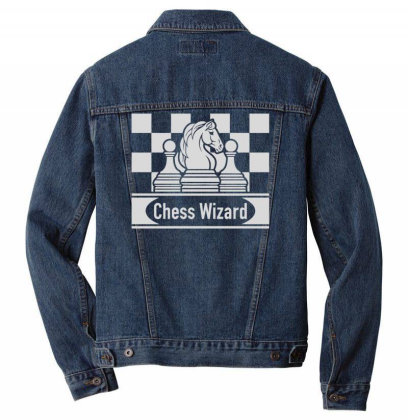 Chess Logo Men Denim Jacket Designed By Anis4