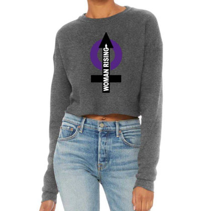 Women Rising Cropped Sweater