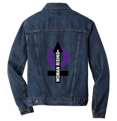 Women Rising Men Denim Jacket Designed By Cuser2397