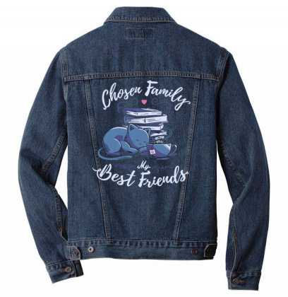 Chosen Family   My Best Friends Men Denim Jacket Designed By Anis4