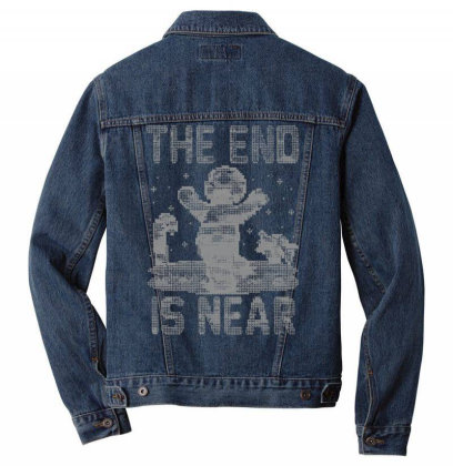 Christmas Is Near!   Ugly Christmas Sweater Men Denim Jacket Designed By Anis4