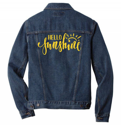 Hello Sunshine Men Denim Jacket Designed By Badaudesign