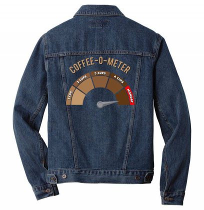 Coffee O Meter (monday) Men Denim Jacket Designed By Anis4