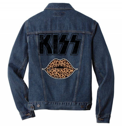Kiss Lips Men Denim Jacket Designed By Badaudesign