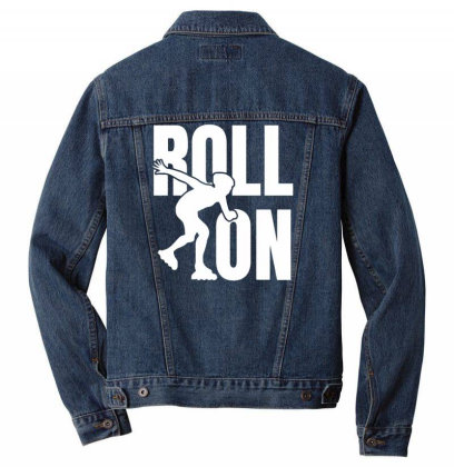 Roll On Inline Skating Men Denim Jacket Designed By Ramateeshirt