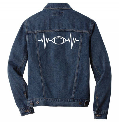 Rugby Ball Pulse Men Denim Jacket Designed By Ramateeshirt