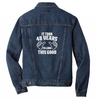 48th Birthday Men Denim Jacket Designed By Jimmy
