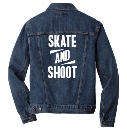 Skate And Shoot Men Denim Jacket Designed By Ramateeshirt