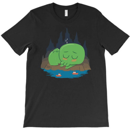 Cutethulhu Is Sleepy T-shirt Designed By Anis4