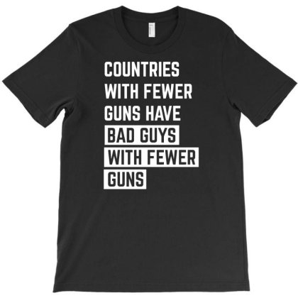 Countries With Fewer Guns T-shirt Designed By Ramateeshirt