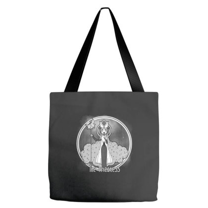 The Priestess - Bw Tote Bags Designed By Pinkyotter Art