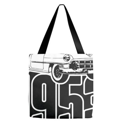 1953 Cadillac Series 62 Convertible Illustration Tote Bags Designed By Talans
