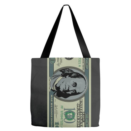 100 Dollar Bill Tote Bags Designed By Connie