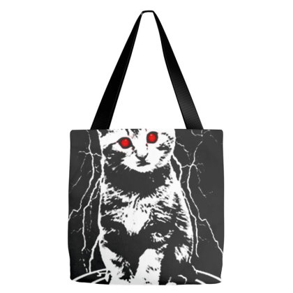 Funny Demon Cat Tote Bags Designed By Talans