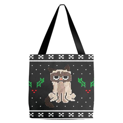 Grumpy Cat Ho Ho No Ugly Christmas Tote Bags Designed By Talans
