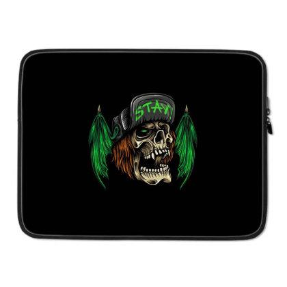 Bat Wings Skull Laptop Sleeve Designed By Stayhoom