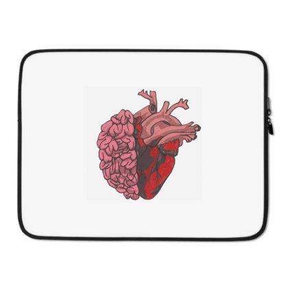 Brain And Heart Laptop Sleeve Designed By Mysticalbrain