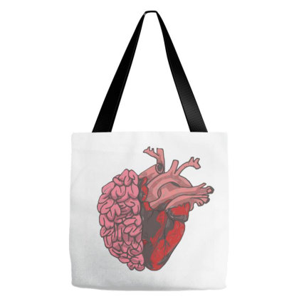 Brain And Heart Tote Bags Designed By Mysticalbrain