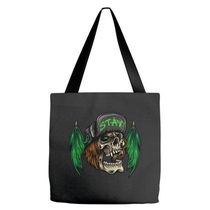 Bat Wings Skull Tote Bags Designed By Stayhoom