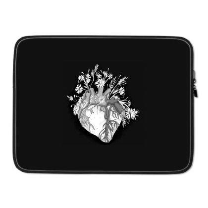 Heart Flower Laptop Sleeve Designed By Mysticalbrain