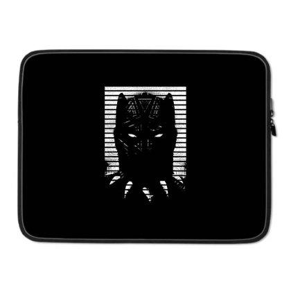 Black Striped Profile Girls Laptop Sleeve Designed By Talans