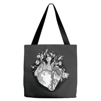 Heart Flower Tote Bags Designed By Mysticalbrain