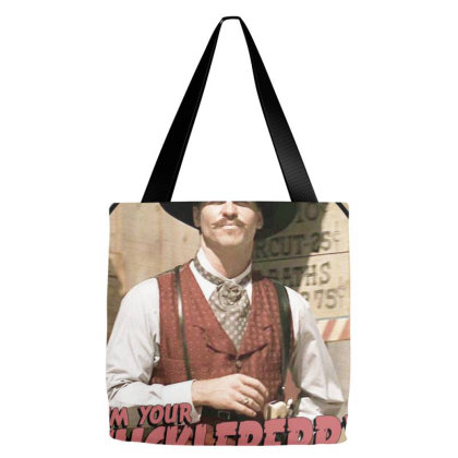 1990's Classic Western 'iam Your Huckleberry' Tote Bags Designed By Connie