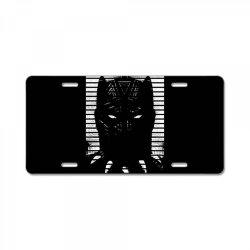 black striped profile girls License Plate   Artistshot