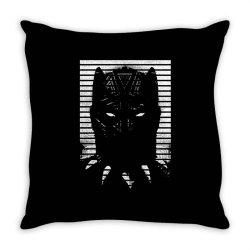 black striped profile girls Throw Pillow   Artistshot