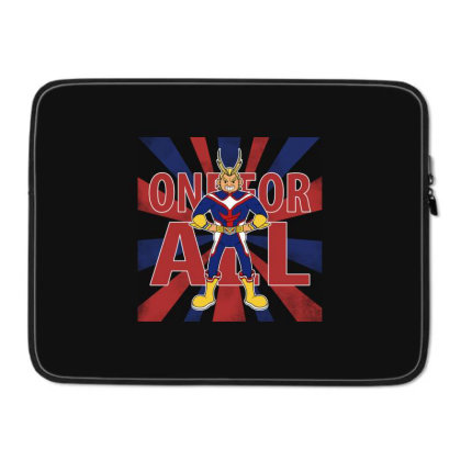 One For All! Laptop Sleeve Designed By Pinkyotter Art