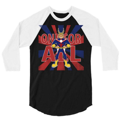 One For All! 3/4 Sleeve Shirt Designed By Pinkyotter Art