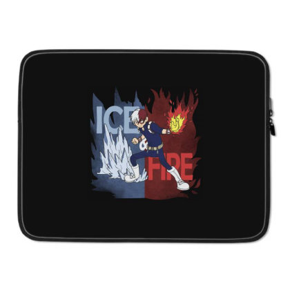 Ice And Fire Laptop Sleeve Designed By Pinkyotter Art