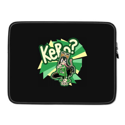 Kero? Laptop Sleeve Designed By Pinkyotter Art