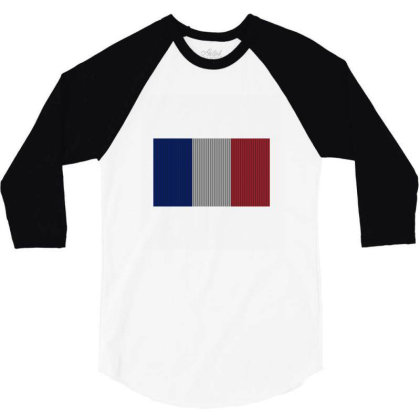 Flag Of France 3/4 Sleeve Shirt Designed By Alamy