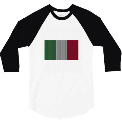 Flag Of Italy 3/4 Sleeve Shirt Designed By Alamy