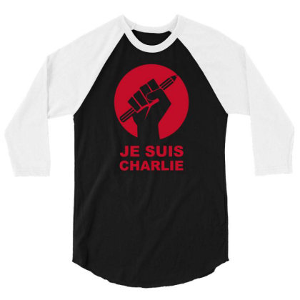 Je Suis Charlie Freedom Of Speech 3/4 Sleeve Shirt Designed By Ramateeshirt