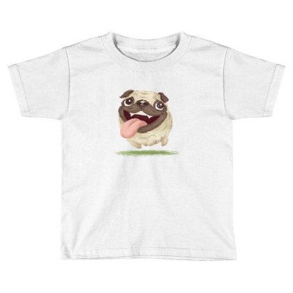 Active Pug Toddler T-shirt Designed By Toru_sanogawa