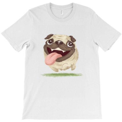 Active Pug T-shirt Designed By Toru_sanogawa
