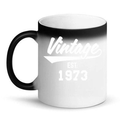 Vintage Established 1973 Magic Mug Designed By Ramateeshirt