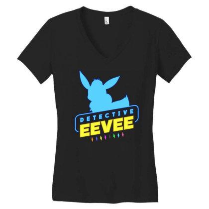 Detective Eevee Women's V-neck T-shirt Designed By Bogaya