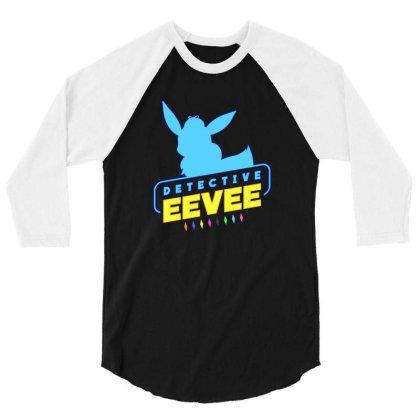 Detective Eevee 3/4 Sleeve Shirt Designed By Bogaya