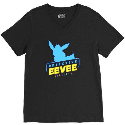 Detective Eevee V-neck Tee Designed By Bogaya