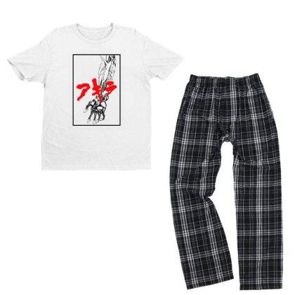 Akira Arm Youth T-shirt Pajama Set Designed By Paísdelasmáquinas