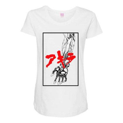 Akira Arm Maternity Scoop Neck T-shirt Designed By Paísdelasmáquinas