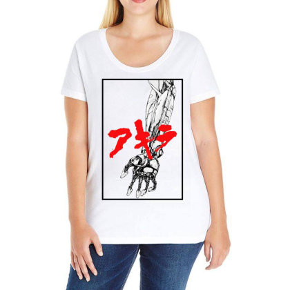 Akira Arm Ladies Curvy T-shirt Designed By Paísdelasmáquinas