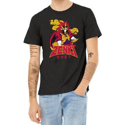 Zenki Heather T-shirt Designed By Paísdelasmáquinas