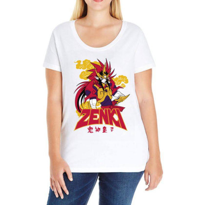 Zenki Ladies Curvy T-shirt Designed By Paísdelasmáquinas