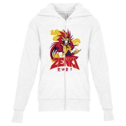 Zenki Youth Zipper Hoodie Designed By Paísdelasmáquinas