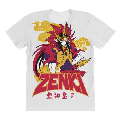 Zenki All Over Women's T-shirt Designed By Paísdelasmáquinas