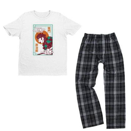 Tanjiro Demon Slayer Youth T-shirt Pajama Set Designed By Paísdelasmáquinas